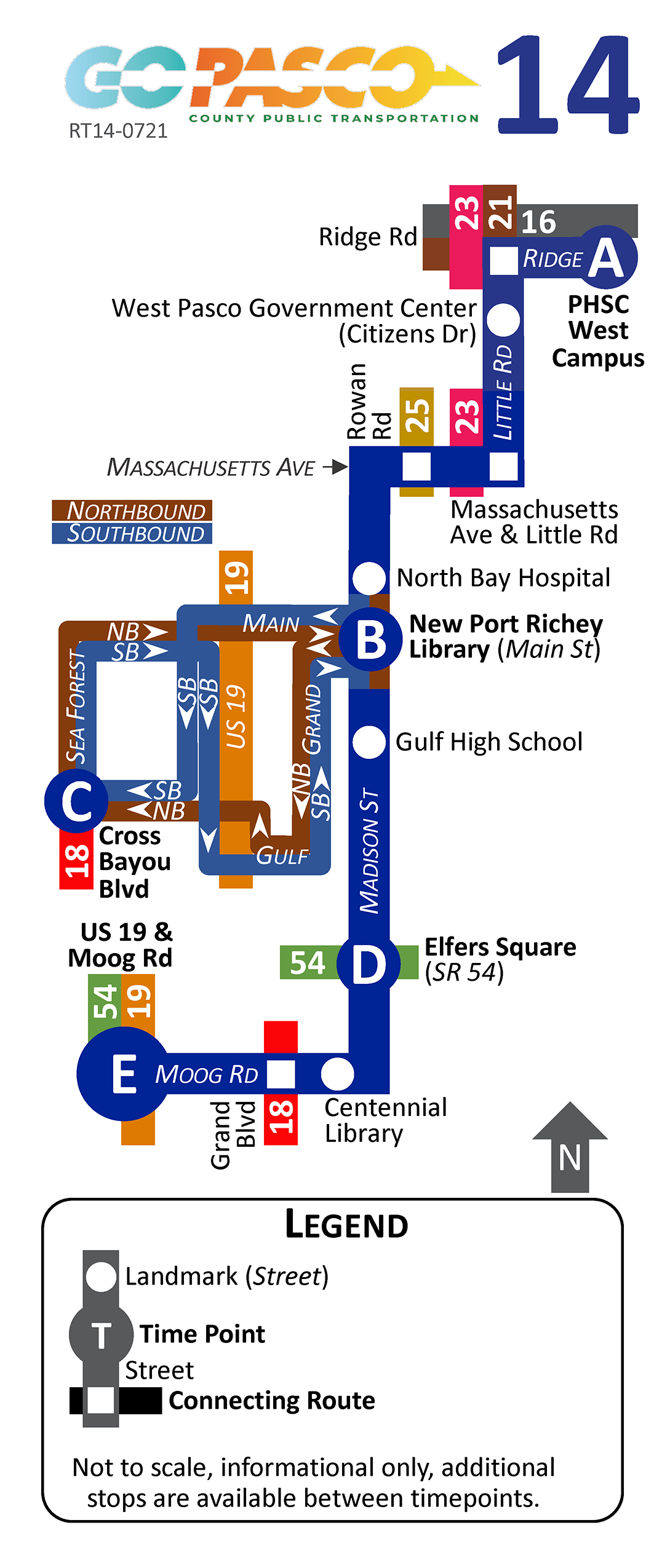 14 Route Map 2021