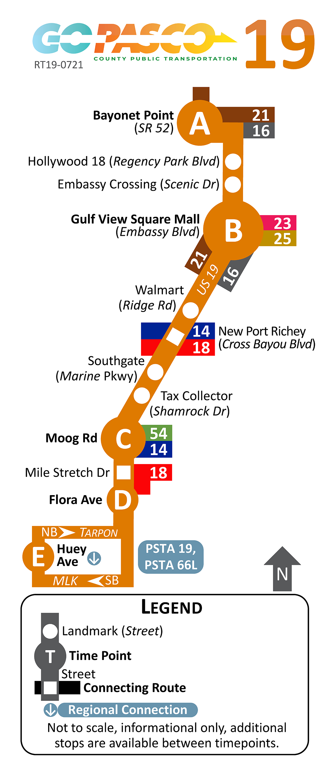 19 Route Map 2021
