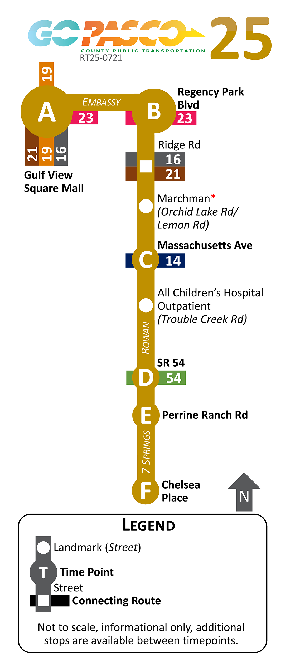25 Route Map 2021