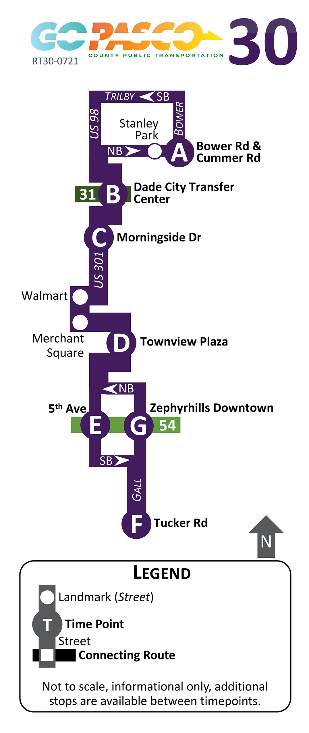 30 Route Map 2021