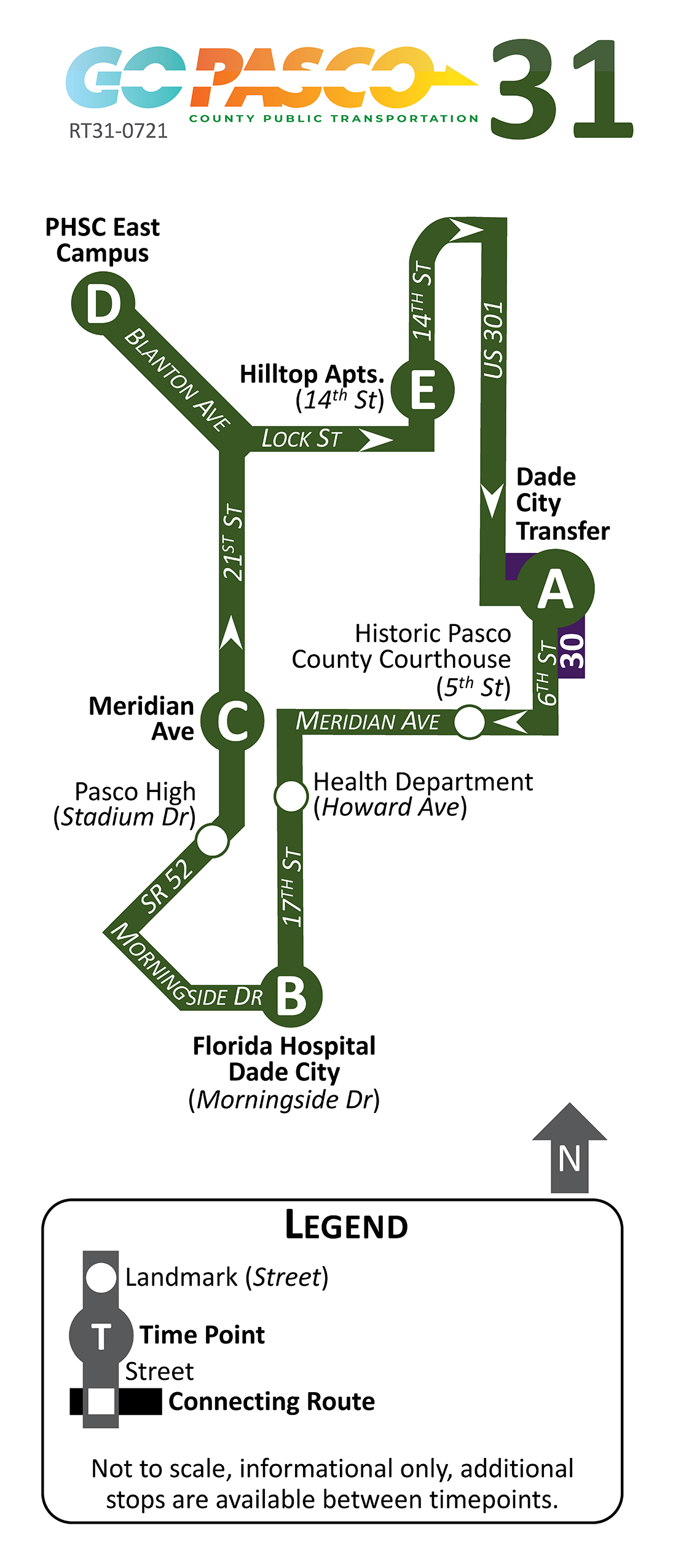 31 Route Map 2021