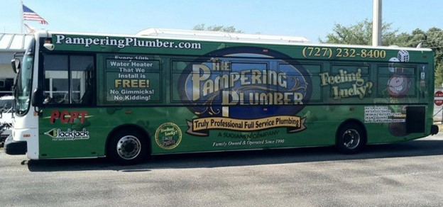 bus with ad wrap